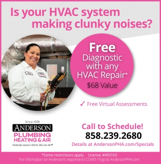 Free Diagnostic With Any HVAC Repair