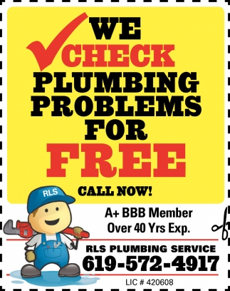 We Ccheck Plumbing Problems