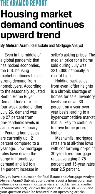 Housing Market Demand Continues Upward Trend