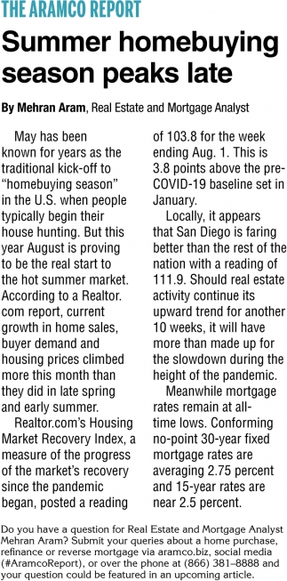 Summer Homebuying Season Peaks Late