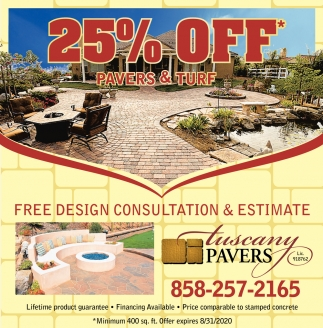 25% OFF Pavers & Turf