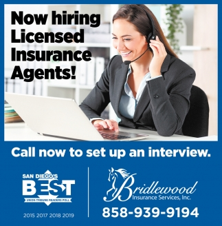 Now Hiring Licensed Insurance Agents