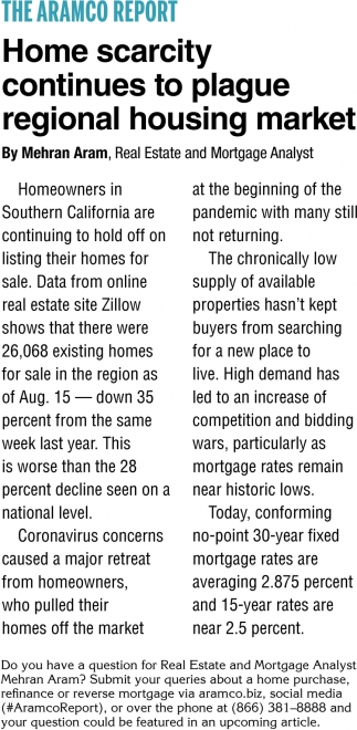 Home Scarcity Continues To Plague Regional Housing Market