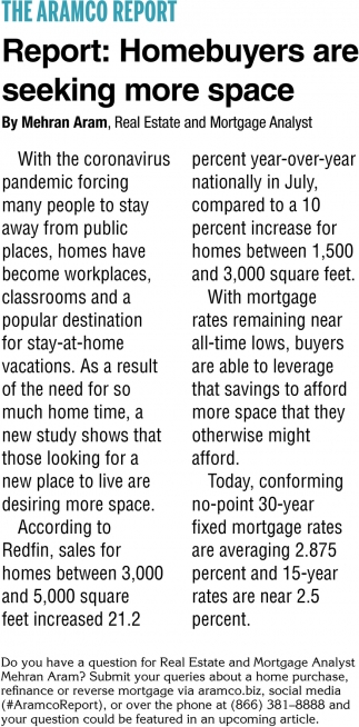 Homebuyers Are Seeking More Space