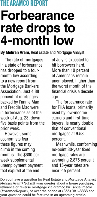 Forbearance Rate Drops To 4-Month Low
