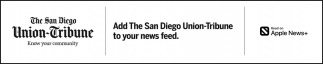 Add The San Diego Union-Tribune To YOur News Feed