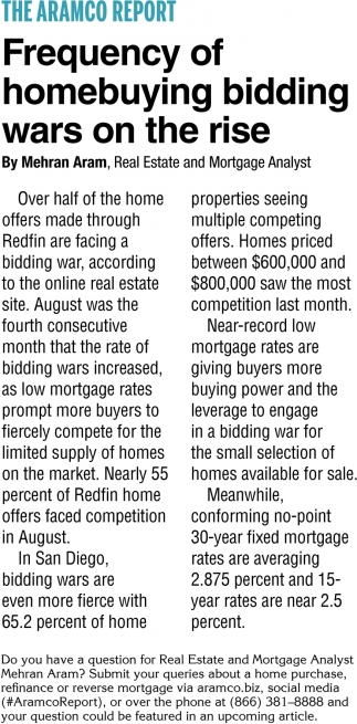 Frequency Of Homebuying Bidding Wars On The Rise