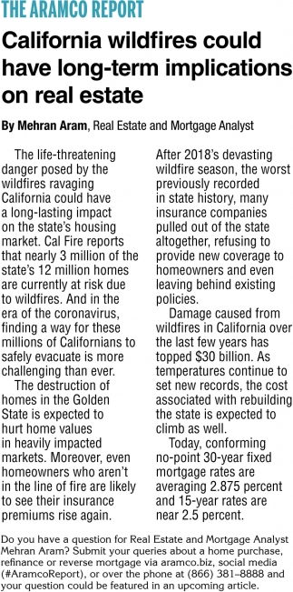 California Wildfires Could Have Long-Term Implications On Real Estate