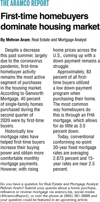 Firt-Time Homebuyers Dominate Housing Market