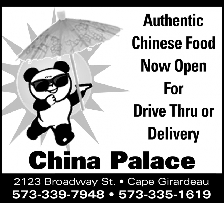 Authentic Chinese Food Now Open for Drive Thru or Delivery