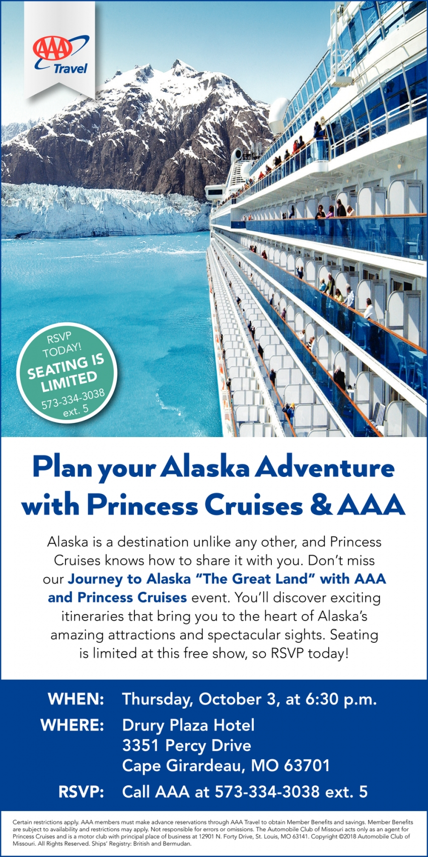 Plan Your Alaska Adventure with Princess Cruises & AAA