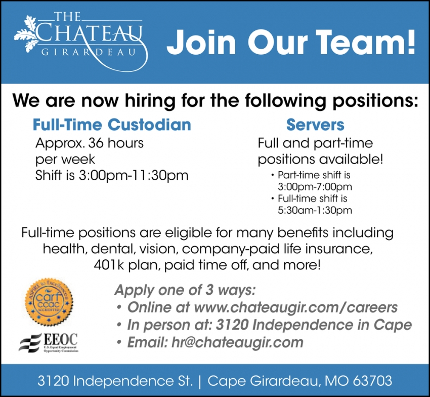 Join Our Team!