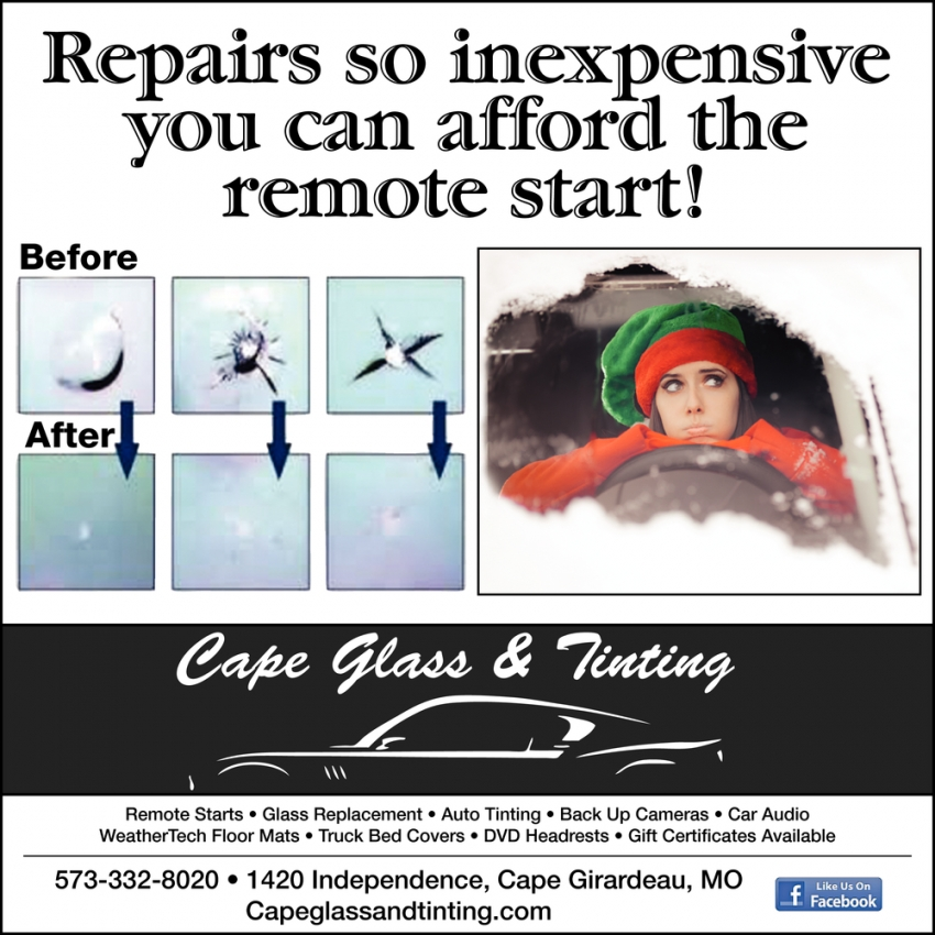 Repairs So Inexpensive You Can Afford the Remote Start!