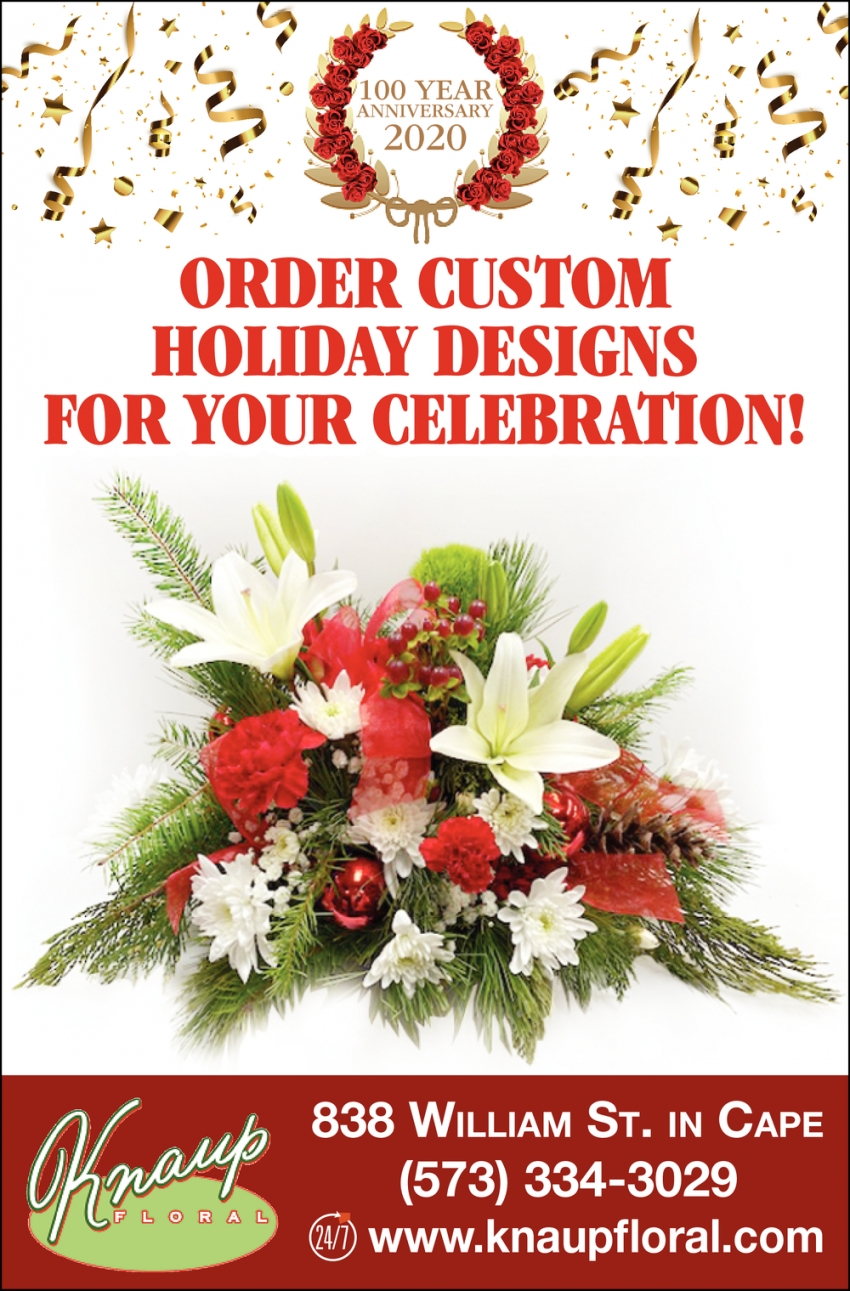 Order Custom Holiday Designs for Your Celebration!