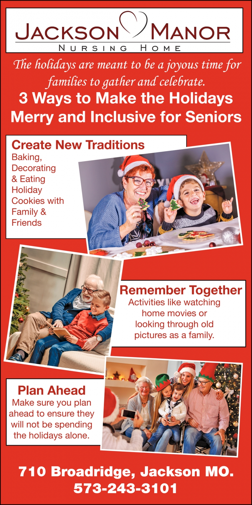 Create New Traditions