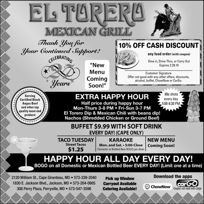 Extra Happy Hour