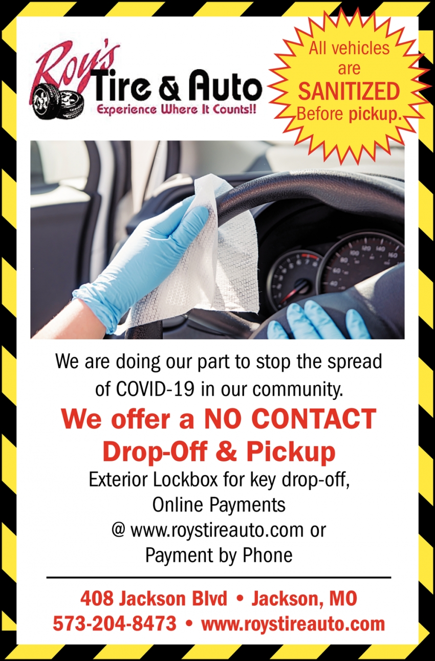 We Offer a No Contact Drop-Off & Pickup