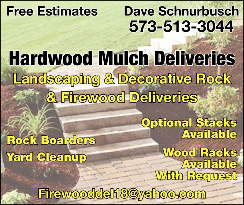 Landscaping & Decorative Rock & Firewood Deliveries