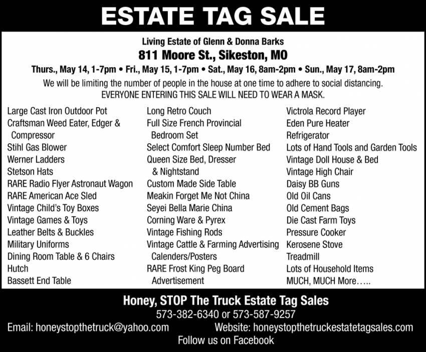 Estate Tag Sale