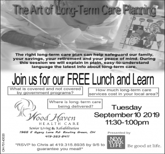 Join us for our FREE lunch and Learn