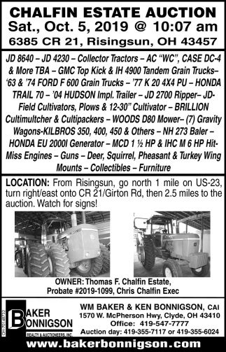 Chalfin Estate Auction