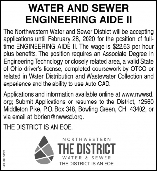 Water and Sewer Engineering Aide II