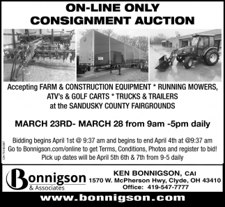 On-Line Only Consignment Auction