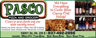 we have Everything to Cover Your Carry-Out Needs!