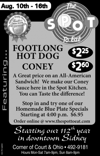Footlong Hot Dog $2.24