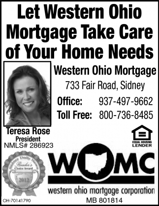 Let wester Ohio Mortgage Take Care of your Home Needs