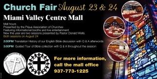 Church Fair August 23 & 24