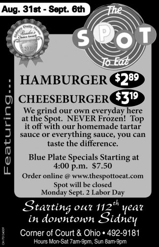Hamburger $2.89 | Cheseburger $3.19