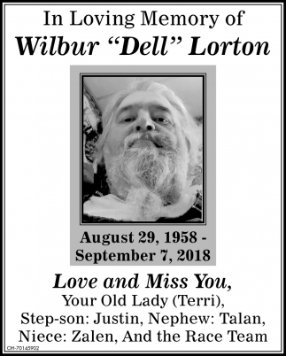 In Memory of Wilbur Dell Lorton