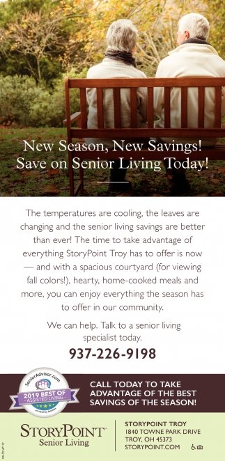 New Season, New Savings! Save on Senior Living Today!