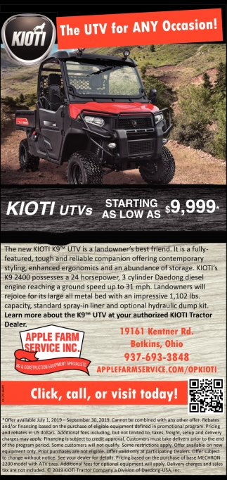 Kioti - The UTV for Any Ocassion!