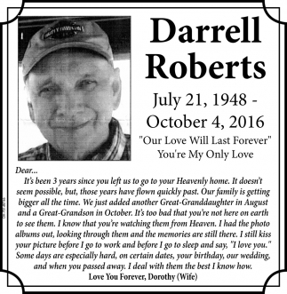 In Memory of Darrell Roberts