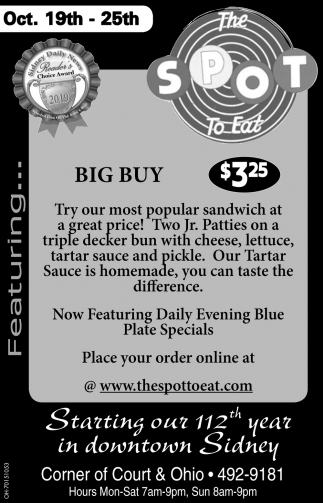 Big Buy Sandwich $3.25