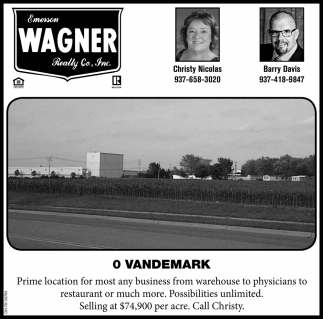 Vandemark - Prime location for most any business from warehouse to physicians to restaurant or much more