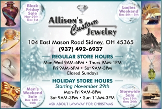 Black Friday Sale - Ladies Weekend - Men's Weekend - Storewide Sale