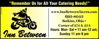 Remember Us For All Catering Needs!