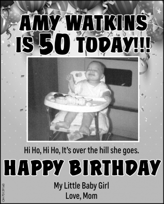 Amy Watkins is 50 Today!