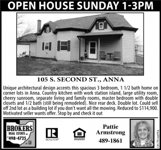 Open House - 105 S. second St., Anna