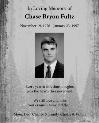 In Loving Memory of Chase Bryon Fultz