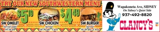 Try Our New Southwestern Menu