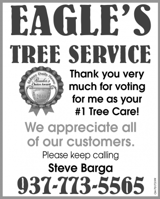Thank yoy very much for voting for me as your #1 Tree Care