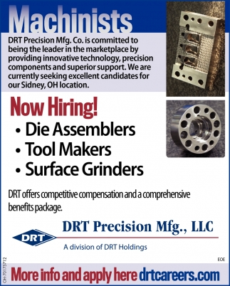 Die Assemblers | Tool Makers | Surface Grinders