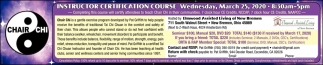 Instructor Certification Course - March 25