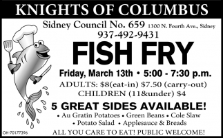 Fish Fry - March 13th