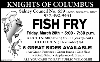 Fish Fry - March 20th