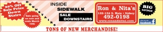 Inside Sidewalk - Sale Downstairs